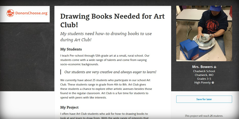 Support a Classroom Project