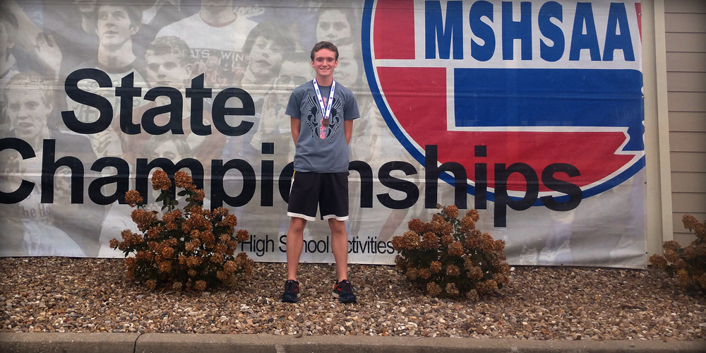 Evan Places Sixth at State